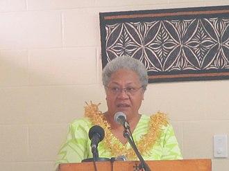 Fiame Naomi Mata'afa - Fiame Naomi Mata'afa speaking at the Advancing Gender Justice Programme BRIDGE training workshop, in Samoa, 19 January 2014