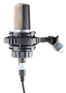 AKG C214 condenser microphone with H85 shock mount.jpg
