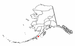 Location of Chignik Lake, Alaska