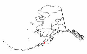 Chignik Lake, Alaska - Image: AK Map doton Chignik Lake