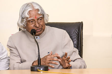 Kalam at Bijnor a week before his death APJAbdulKalam.jpg