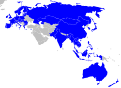 Members of ASEM in blue