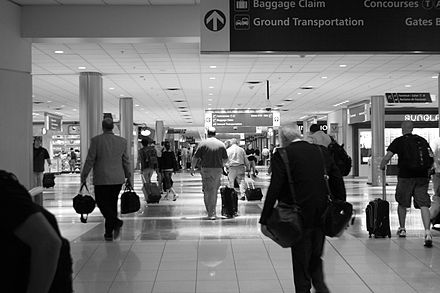 Concourse B at Hartsfield-Jackson Atlanta International Airport, the world's busiest airport ATL airport interior.jpg