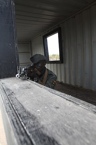 Military of Burkina Faso - A soldier from Burkina Faso on exercise in Senegal