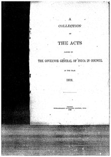 A Collection of the Acts passed by the Governor General of India in Council, 1919.pdf