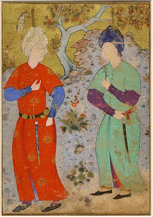 Mir Sayyid Ali - Image: A Prince and Page, ca. 1540, Tabriz, British Museum