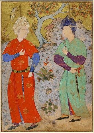 Mir Sayyid Ali - Image: A Prince and Page, ca. 1540, Tabriz, British Museum