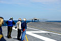 A U.S. Navy X-47B Unmanned Combat Air System demonstrator aircraft launches from the flight deck of the aircraft carrier USS George H.W. Bush (CVN 77) May 14, 2013, in the Atlantic Ocean 130514-N-TB177-571.jpg
