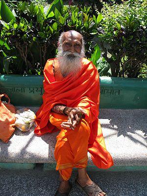 A Yoga instructor at Parmarth Niketan, Muni Ki...