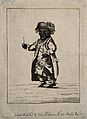A male dwarf, dressed eccentrically. Etching, 1781. Wellcome V0007422.jpg