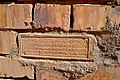 A stamped brick at the ancient city of Babylon, bearing the name of Saddam Hussein, 1988 AD.jpg