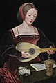 A young lady playing a lute, by the Master of the Female Half-lengths.jpg