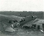 Abandoned Mitsubishi Ki-46 II on Okinawa, circa in June 1945.jpg