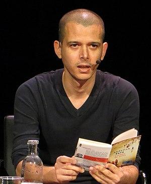 Abdellah Taïa - Taïa reading from one of his novels at the International Writers' Stage at the Kulturhuset in Stockholm, Sweden.