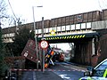 Accident involving a high lorry and a low bridge - geograph.org.uk - 658033.jpg