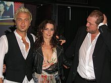 Ulf, Jenny and Jonas after a concert in Finland, 2008.