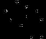 Stereo, skeletal formula of N-acetylaspartylglutamic acid
