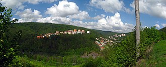 Adamov (Blansko District) - Adamov landscape panorama