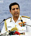Admiral RK Dhowan, Chief of the Naval Staff addressing the media at the Navy Investiture Ceremony 2015.jpg