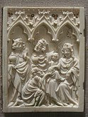 Adoration of the Magi, ivory, 15th century, perhaps South German - Worcester Art Museum - IMG 7516.JPG