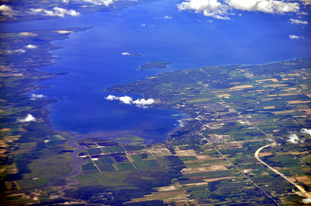 File Aerial Cooks Bay Lake Simcoe Ontario From South