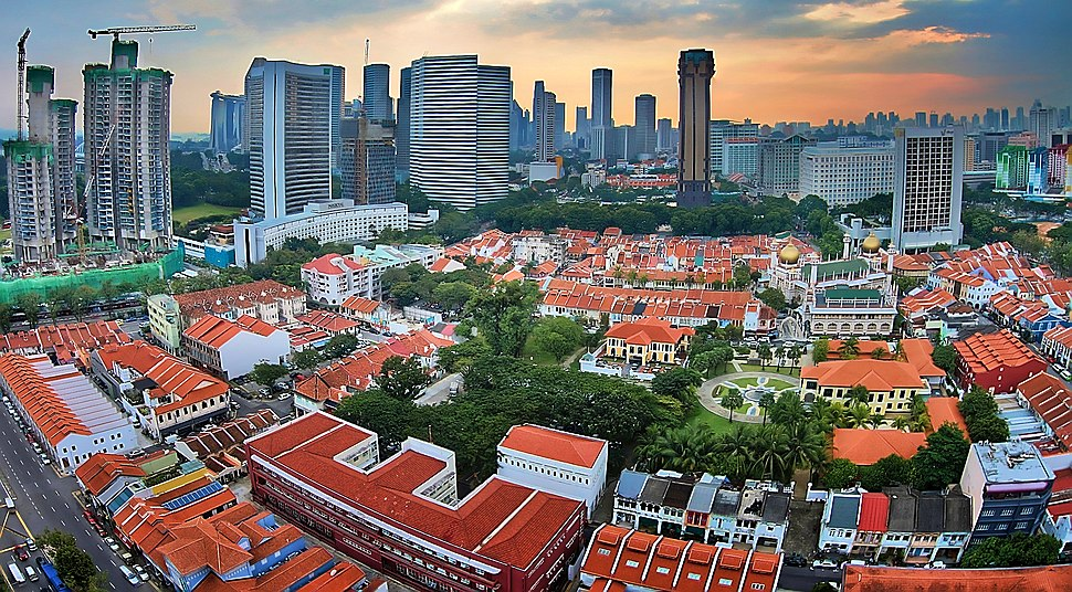 Aerial view of Kampong Glam, Singapore - 20121027