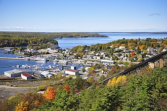 Parry Sound, Ontario - Looking over the town and the sound