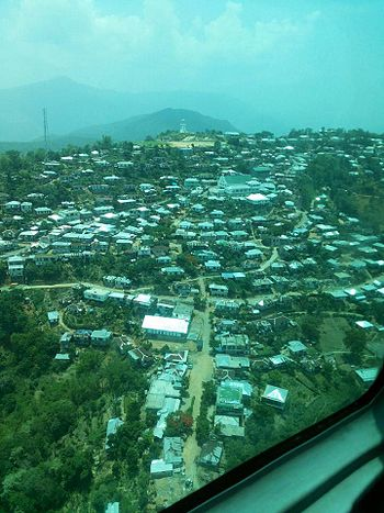 Aerial view of central Ngopa