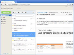 Afterlogic Webmail Lite Screenshot Messages List.png