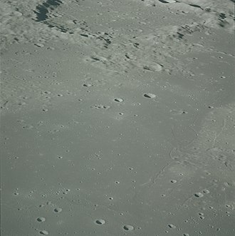 Agatharchides (crater) - Oblique view from Apollo 16, facing south