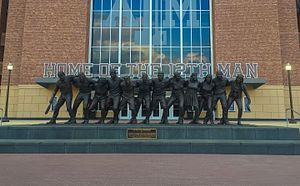 Kyle Field - The War Hymn Movement statue erected in 2014