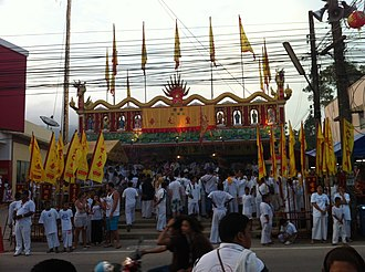 Nine Emperor Gods Festival - Image: Ahm (Chinese Temple) in Cherngtalay, the Vegetarian Festival in Phuket 07