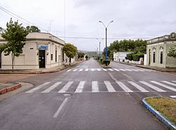 Avenida Artigas, an avenue in Aiguá.