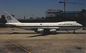 Air Madagascar - Air Madagascar's Boeing 747-200B at Frankfurt Airport in 1996.