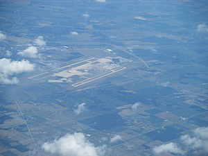 Wilmington Air Park - Aerial view of Airborne Airpark in 2012