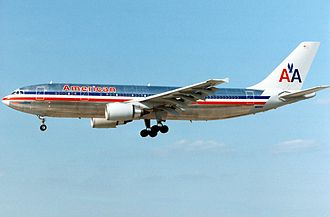 Airbus A300 - An American Airlines A300B4-600R approaches Miami International Airport in 1993. On 29 August 2009, American Airlines retired all A300 aircraft.