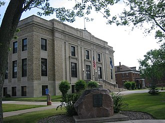 Aitkin County Courthouse and Jail - Aitkin County Courthouse.