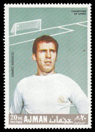 Amancio Amaro - Amaro depicted on a 1968 Ajman stamp