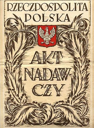 Osadnik - Cover of a land allotment document from 1923; altogether some 8000 people received land in the eastern Voivodeships of Poland