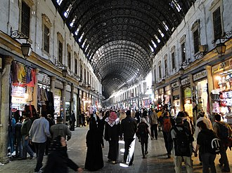Al-Hamidiyah Souq, dating back to the Ottoman era Al-Hamidiyah Souq 02.jpg