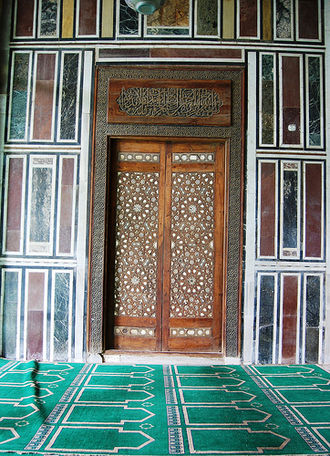 Mosque of Sultan al-Muayyad - One of the doors to the main hall
