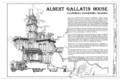 Albert Gallatin House, 1527 H Street, Sacramento, Sacramento County, CA HABS CAL,34-SAC,19- (sheet 1 of 9).png