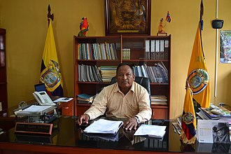 Logroño, Ecuador - Mayor of Logroño, Galo Utitiaj