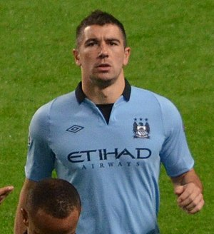 Aleksandar Kolarov - Kolarov with Manchester City in 2012
