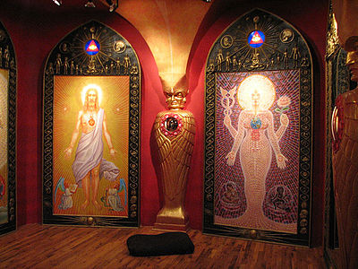 Inside the Chapel of Sacred Mirrors. Alex Grey - COSM 4.jpg