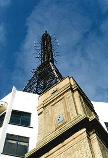Alexandra Palace television station Television transmission site in north London
