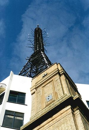 Radio - The Alexandra Palace, here: mast of the broadcasting station