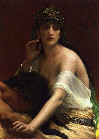 Delilah - Samson and Delilah (1878) by Alexandre Cabanel