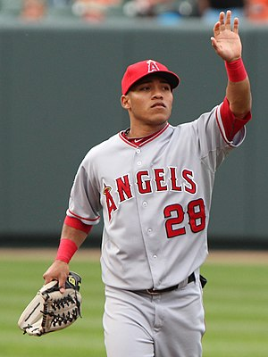 Alexi Amarista - Amarista during his tenure with the Los Angeles Angels in 2011