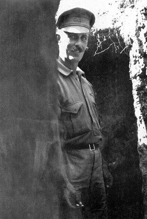 1st Battalion (Australia) - Alfred Shout, one of the 1st Battalion's Victoria Cross recipients, at Quinn's Post, Gallipoli, on 7 June 1915.